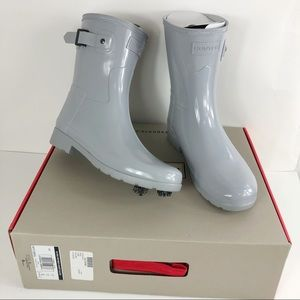 Hunter short rain boots size 7